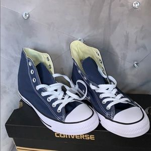 Navy Blue Hi-Top Converse
